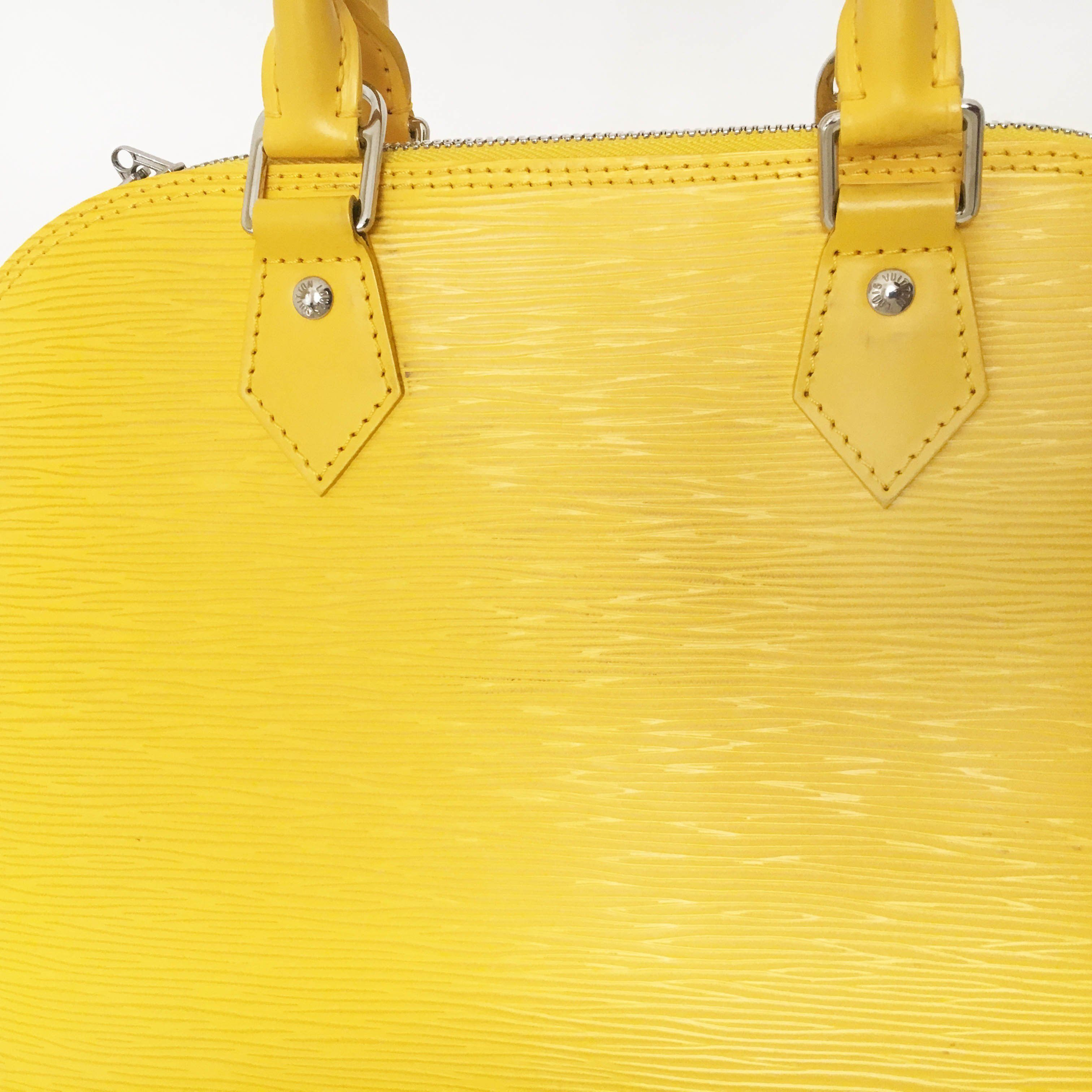 Louis Vuitton Yellow Epi Leather PM Alma Bag