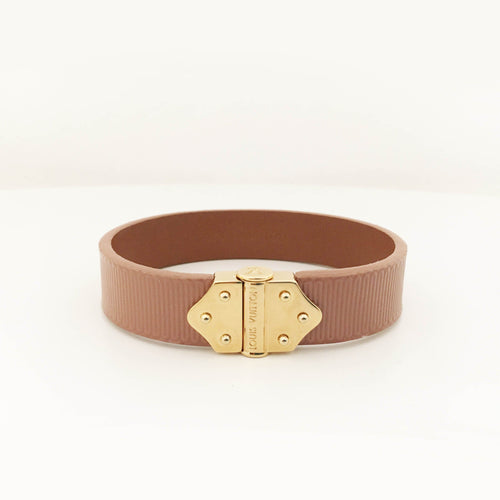 Louis Vuitton Dark Pink Leather Bracelet