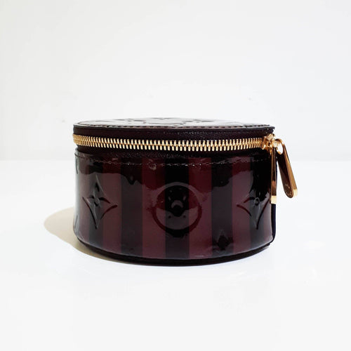 Louis Vuitton Vernis Burgundy Jewelry Case