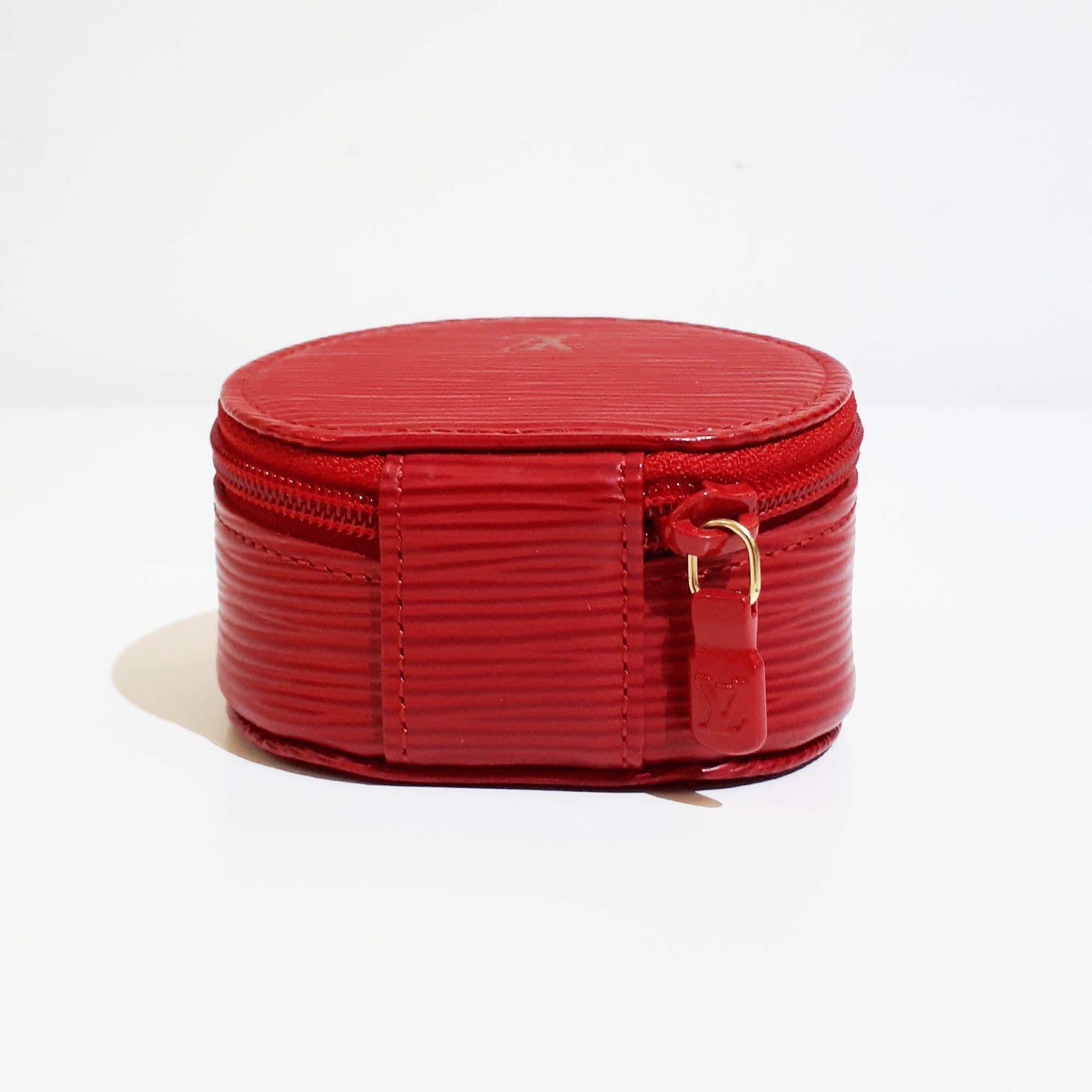 Louis Vuitton Red Ecrin Bijoux Jewelry Case