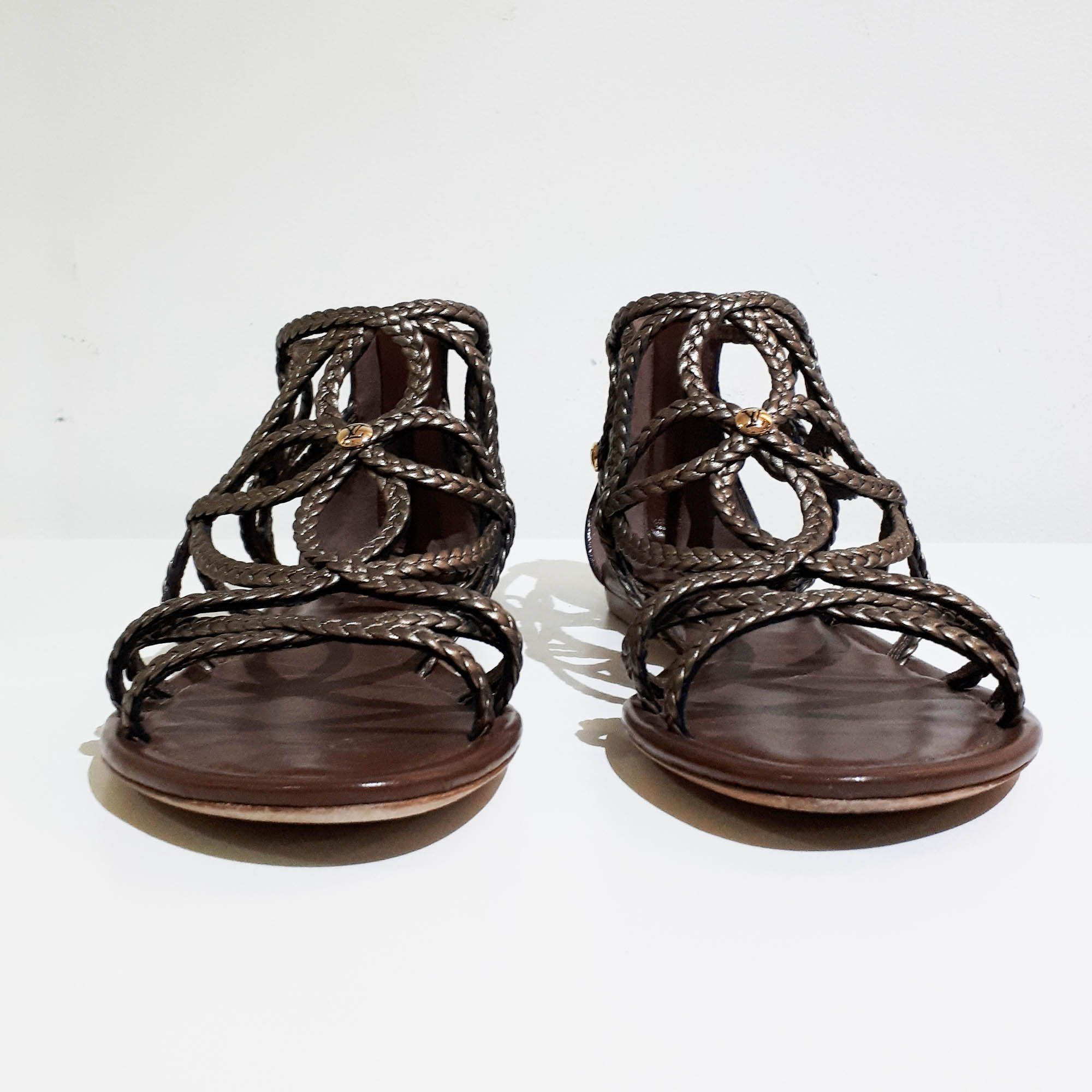 Louis Vuitton Braided Leather Gladiator Sandal