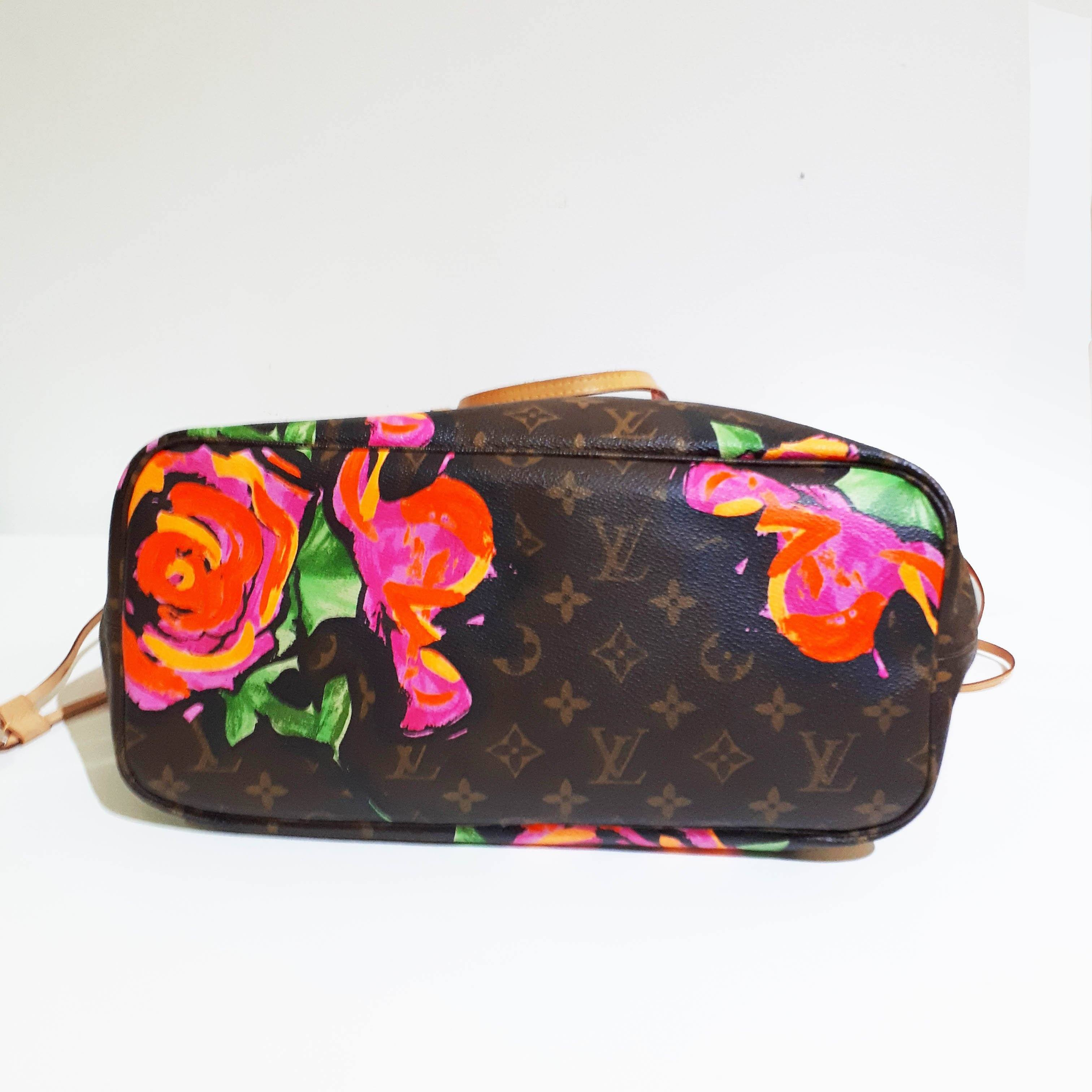 Louis Vuitton Stephen Sprouse Roses Neverfull MM Bag
