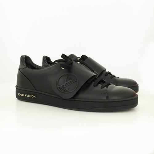 Louis Vuitton Black Velcro Lace Up Sneaker