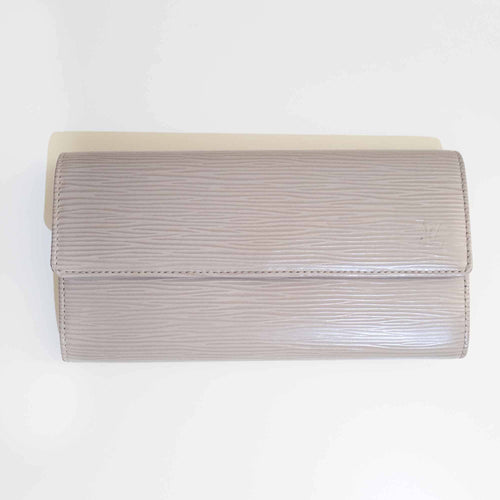 Louis Vuitton Epi Leather Grey Porte Tresor Wallet