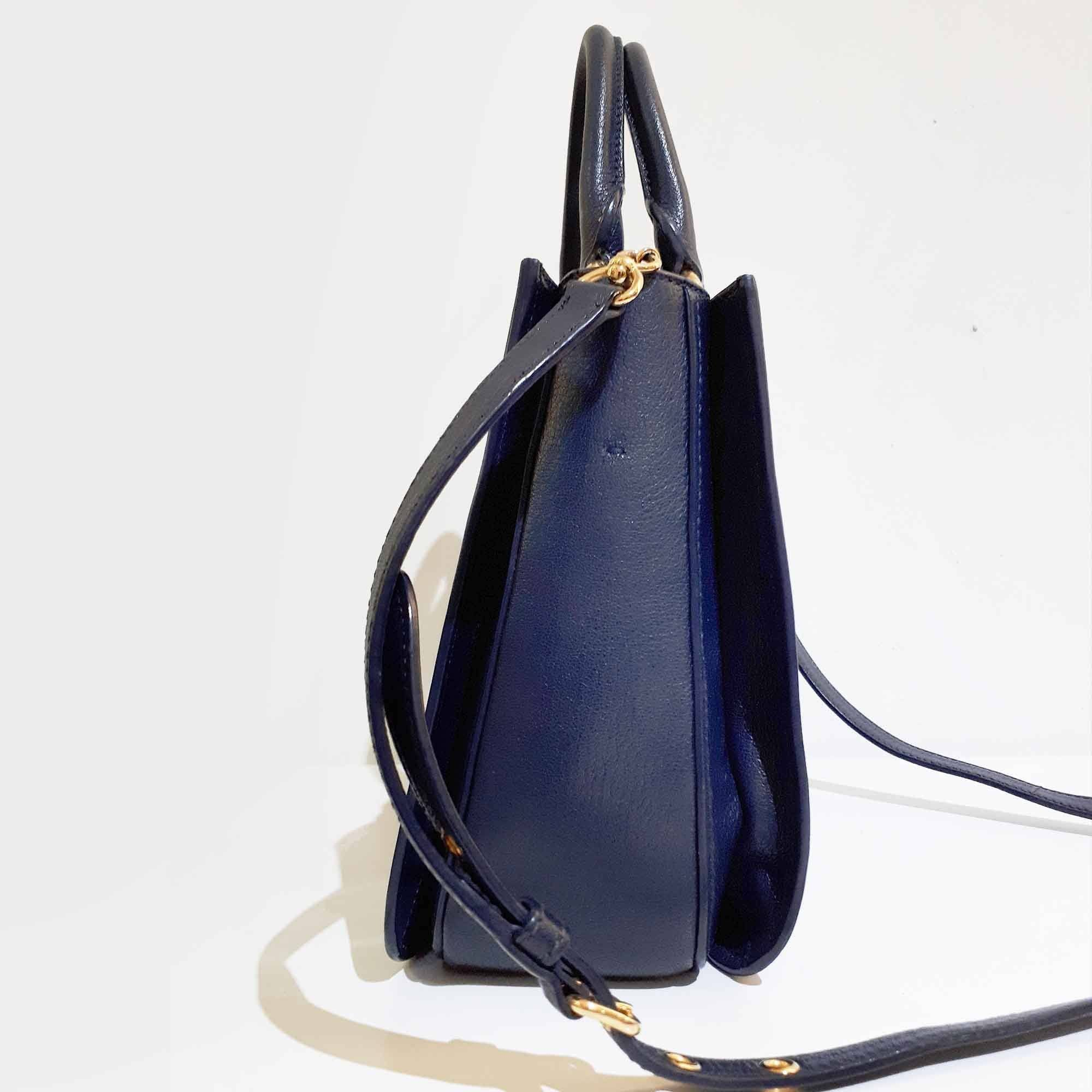 Miu Miu Two Tone Leather Hand Bag
