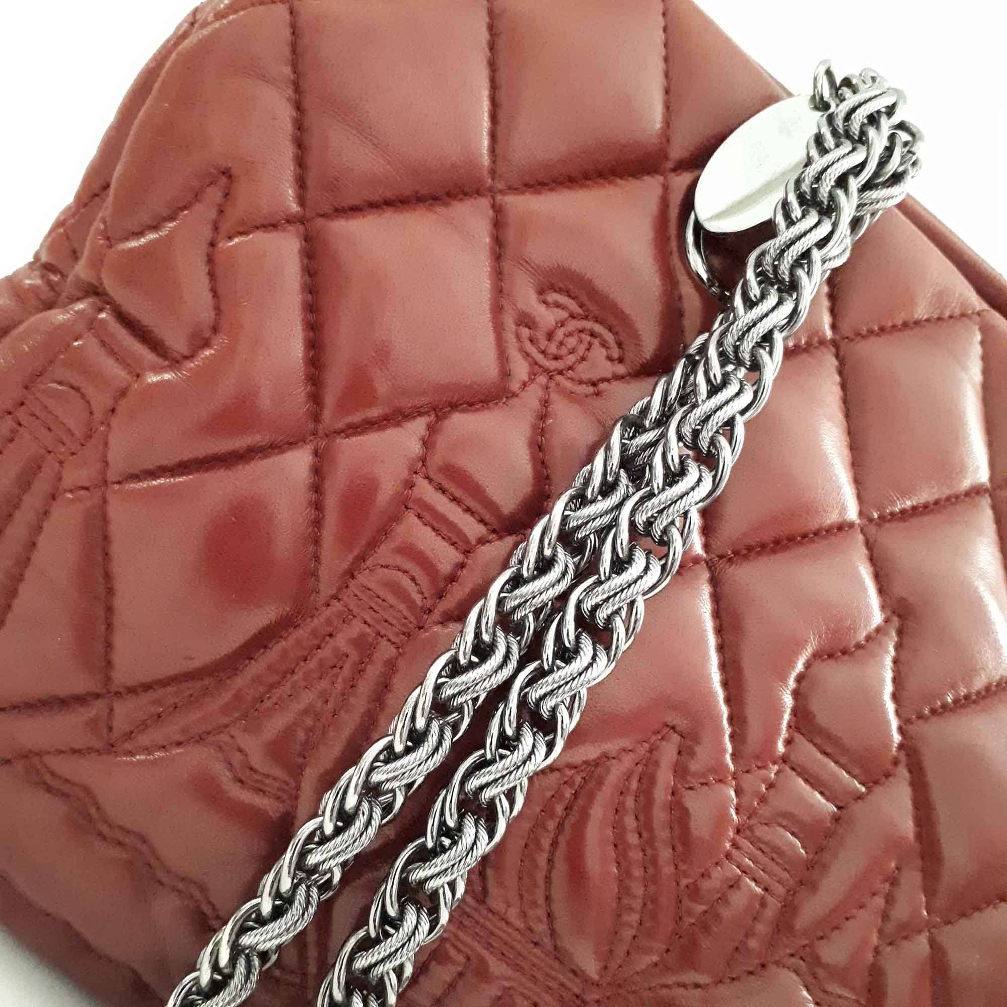 Chanel Lambskin Quilted Paris Moscow Bag