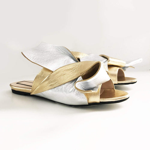 Nº21 Bow Gold and Silver Slides
