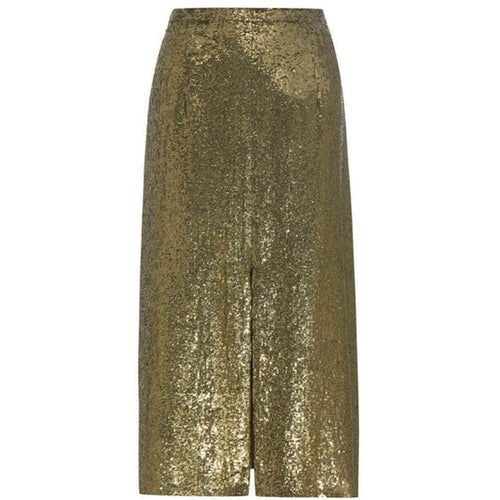Nina Ricci Sequin-embellished silk midi skirt