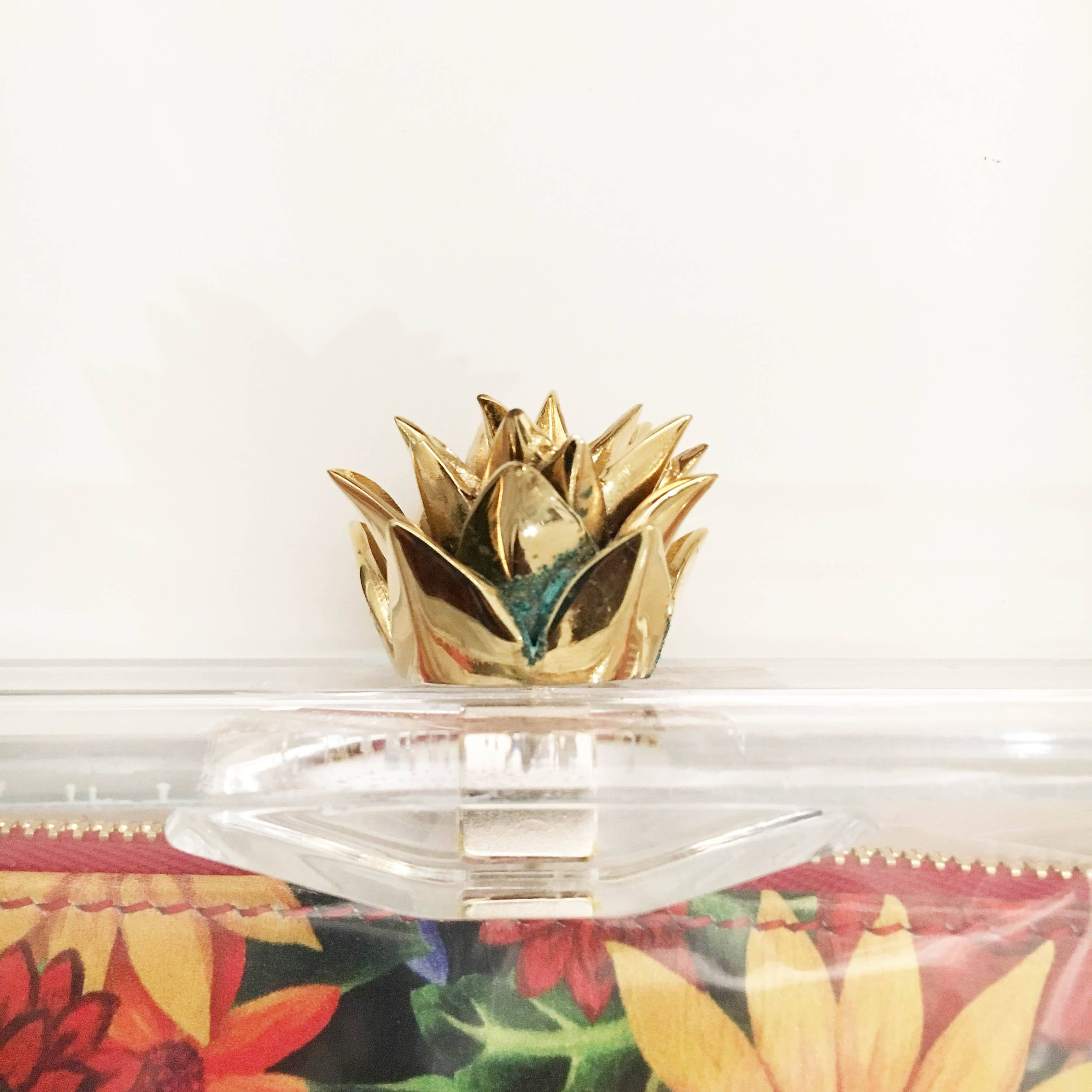 Charlotte Olympia Perspex Pineapple Pandora Box Clutch