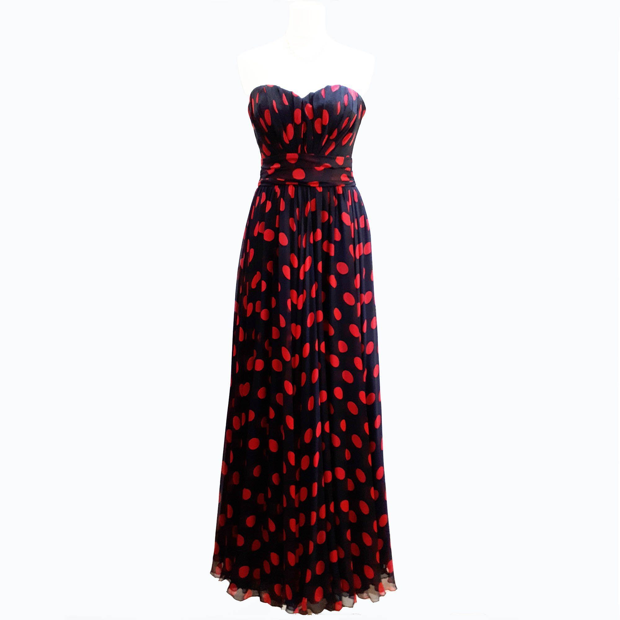 Dolce & Gabbana Long Polka Dot Dress