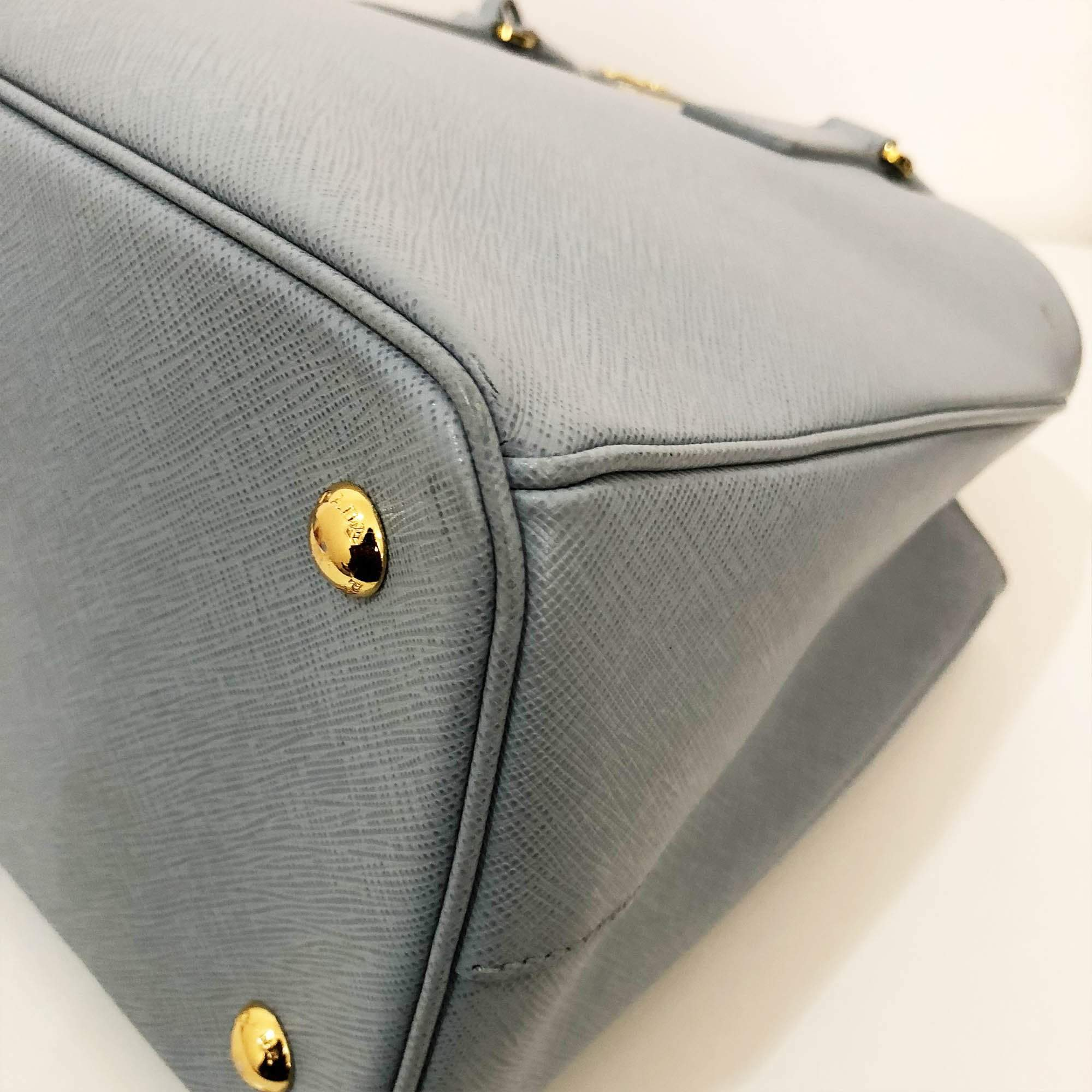 Prada Saffiano Light Blue Bag