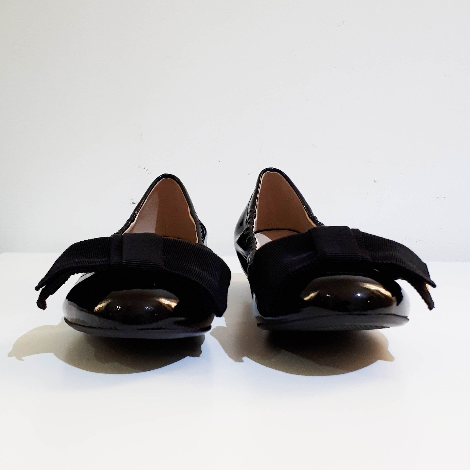 Prada Black Patent Leather Ballerina