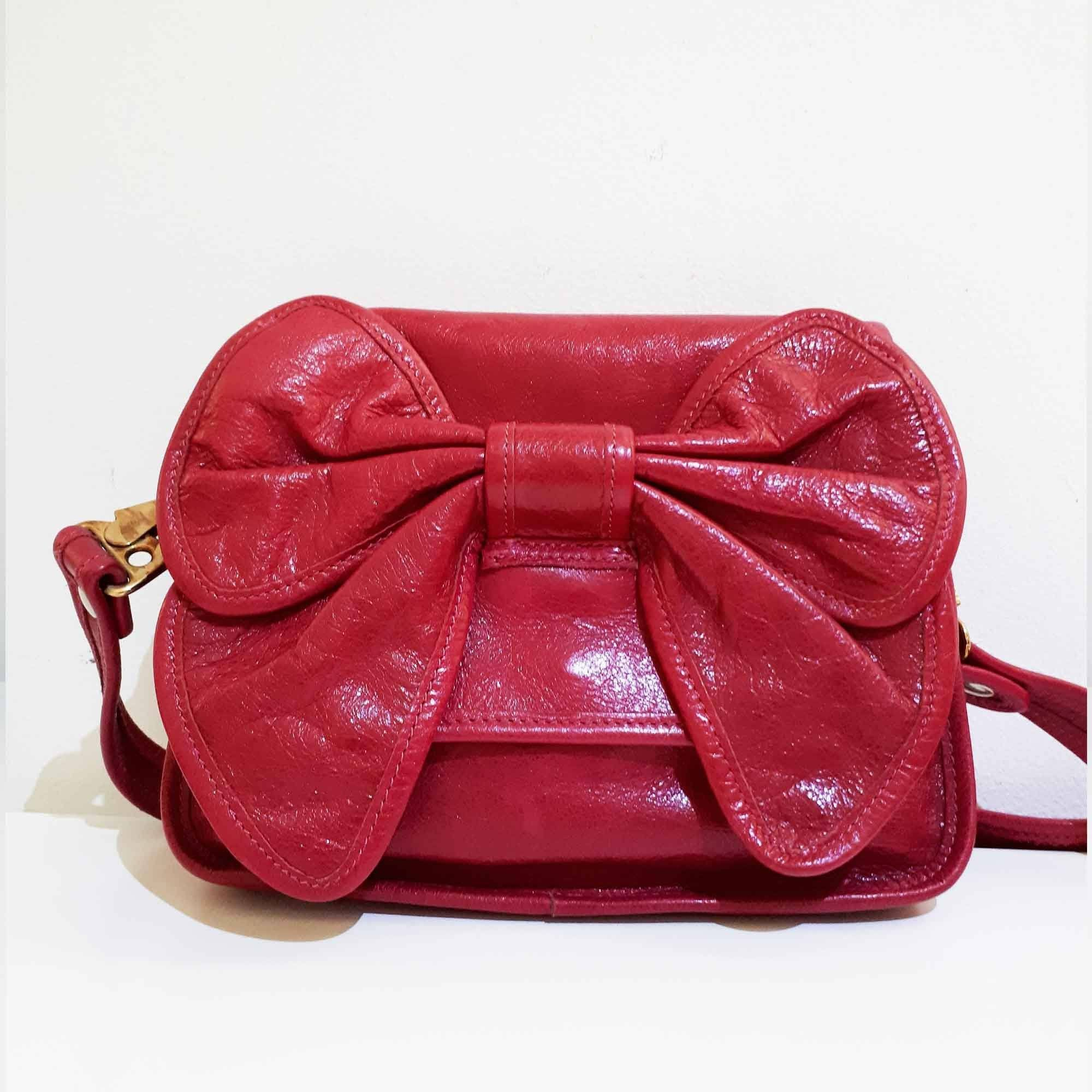 Valentino Bow Leather Crossbody Bag