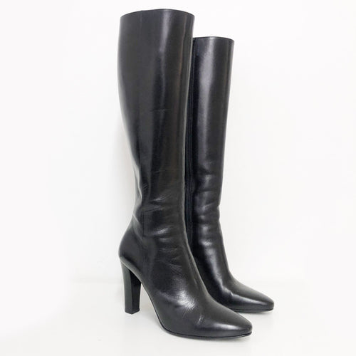 Saint Laurent Lambskin Leather High Boots