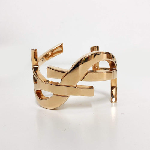 Saint Laurent YSL Monogram Gold Plated Bracelet