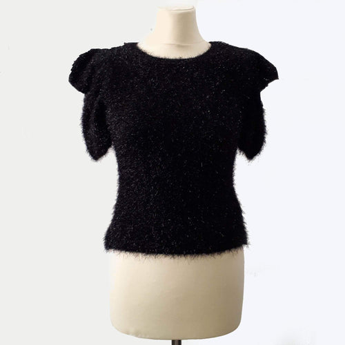 Saint Laurent Puff Shoulder Fil Coupé Sweater