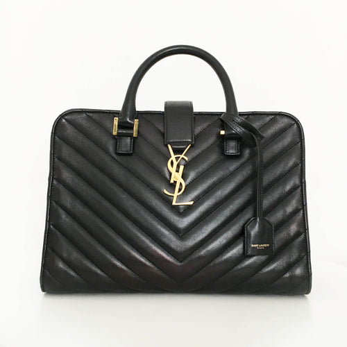 Saint Laurent Black Cabas Matelasse Small Tote