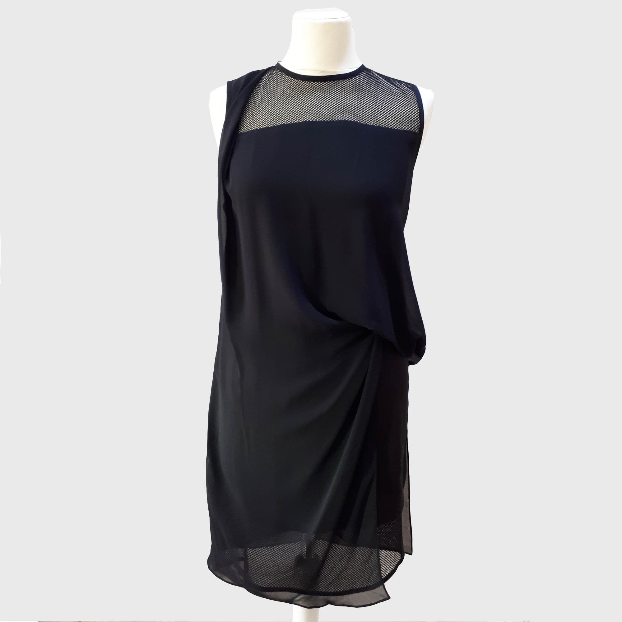 Sandro Black Dress with Net Detailing