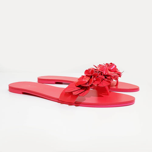 Sophia Webster Pink Lilico appliquéd leather slides