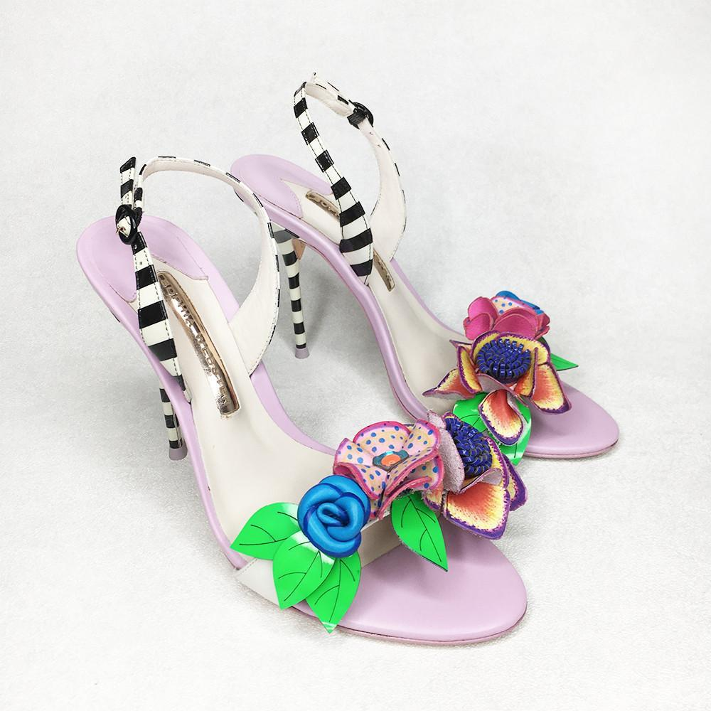 Sophia Webster Flower Applique Heels