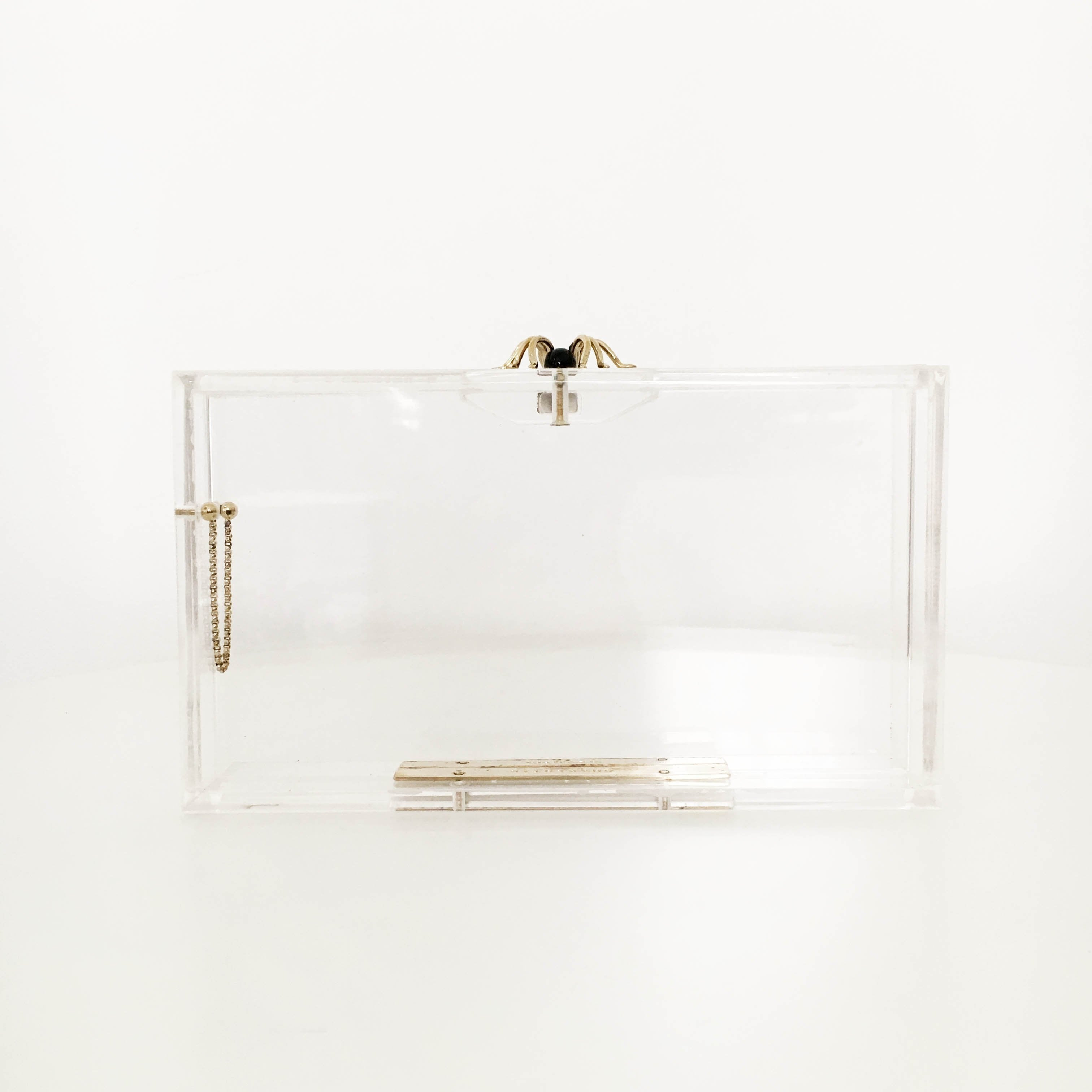 Charlotte Olympia Perspex Spider Pandora Box Clutch