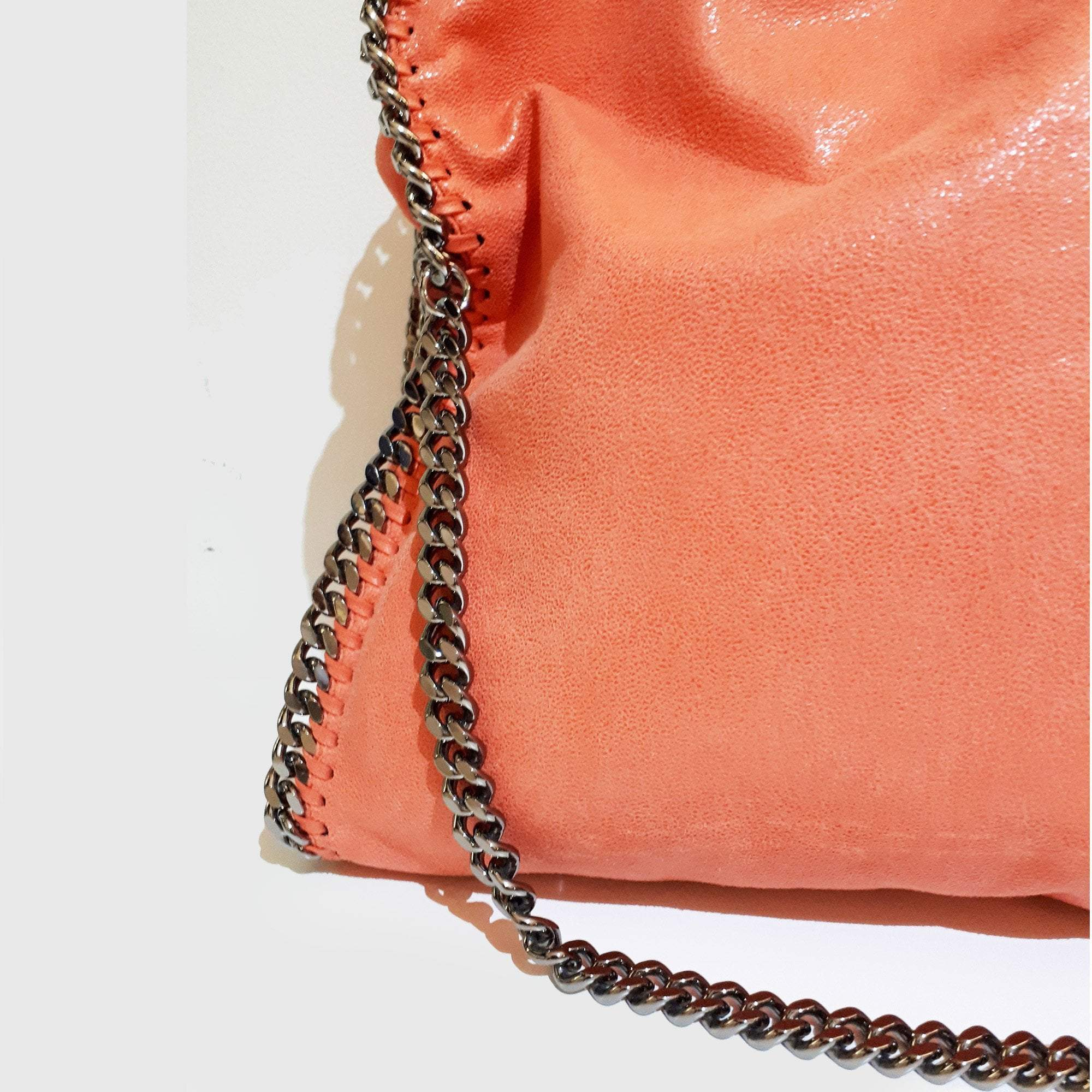 Stella McCartney Peach Faux Leather Falabella Tote