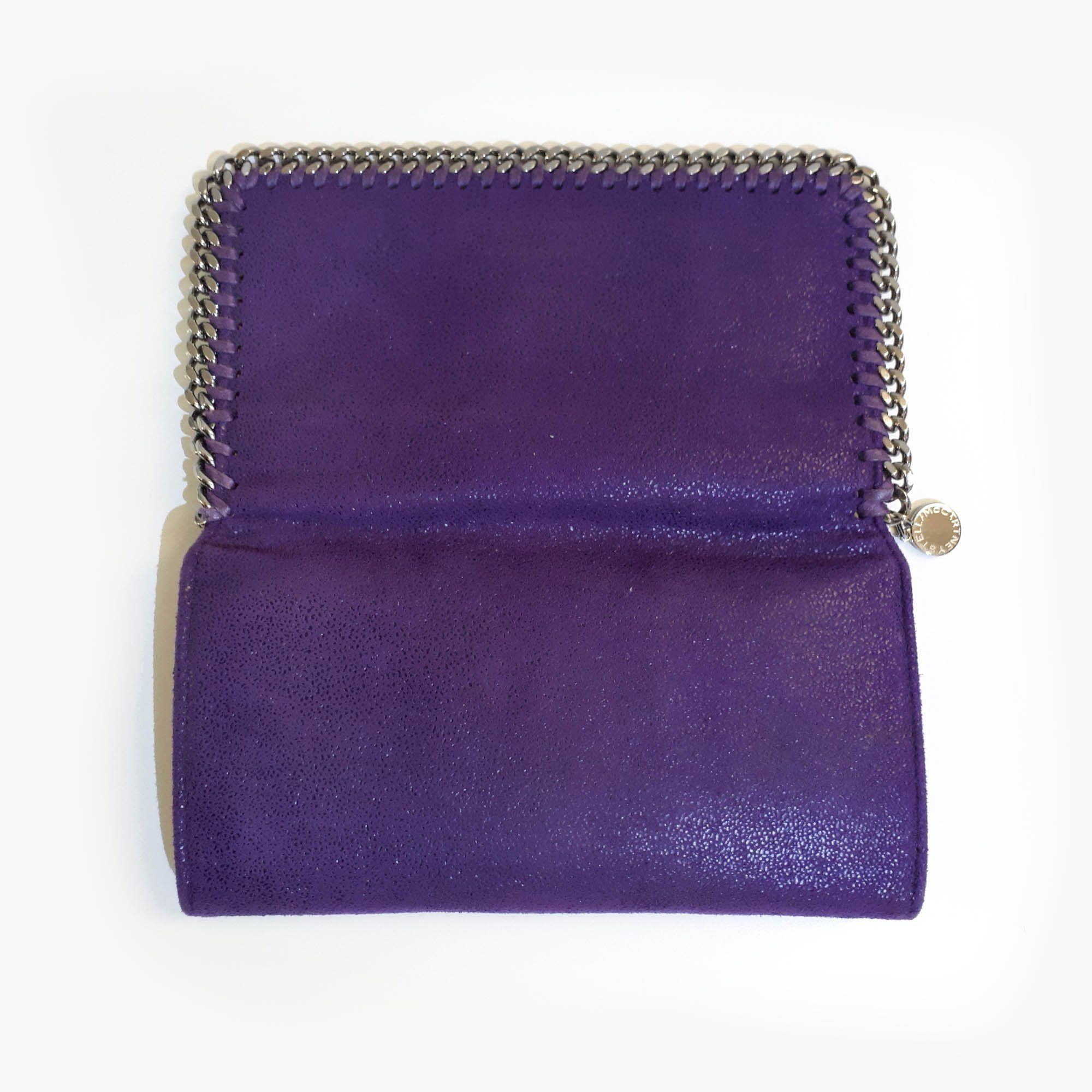 Stella McCartney Purple Falabella Continental Wallet