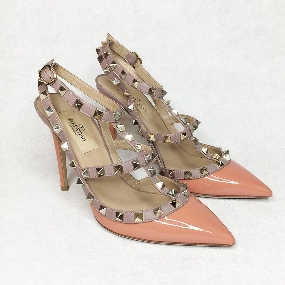 Valentino Peach Rockstud Pumps