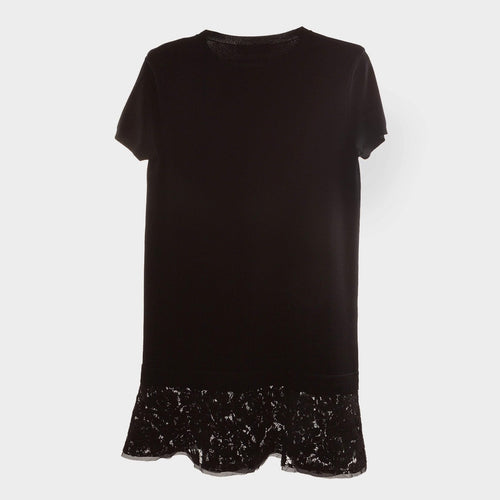 Valentino Short Sleeve Black Dress
