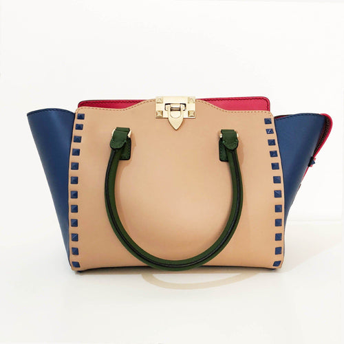Valentino Garavani Rockstud Mulitcolored Mini Tote Bag