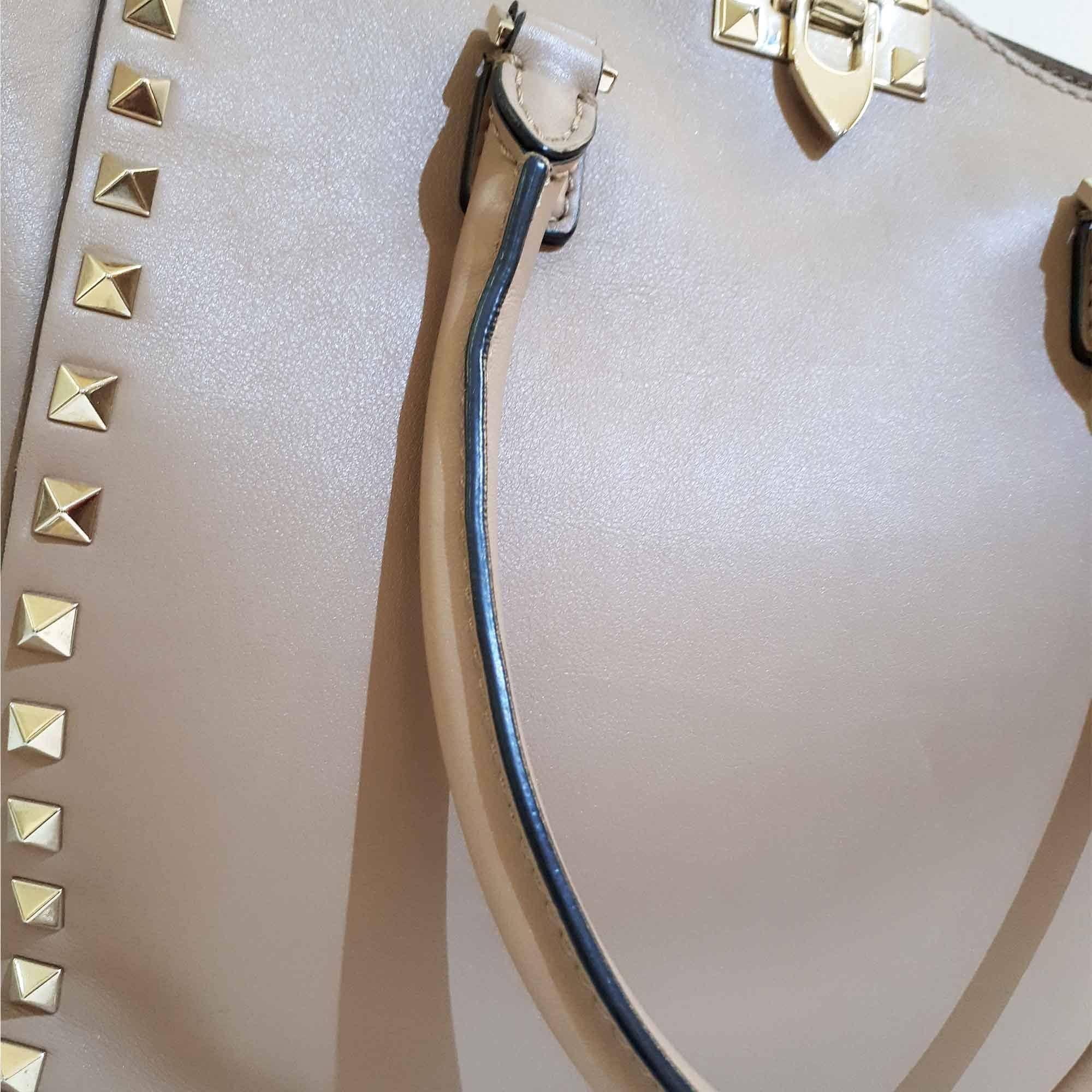 Valentino Leather Rockstud Shopper Tote