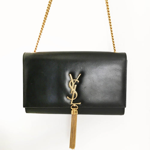 Saint Laurent CrossBody Black Tassel Bag