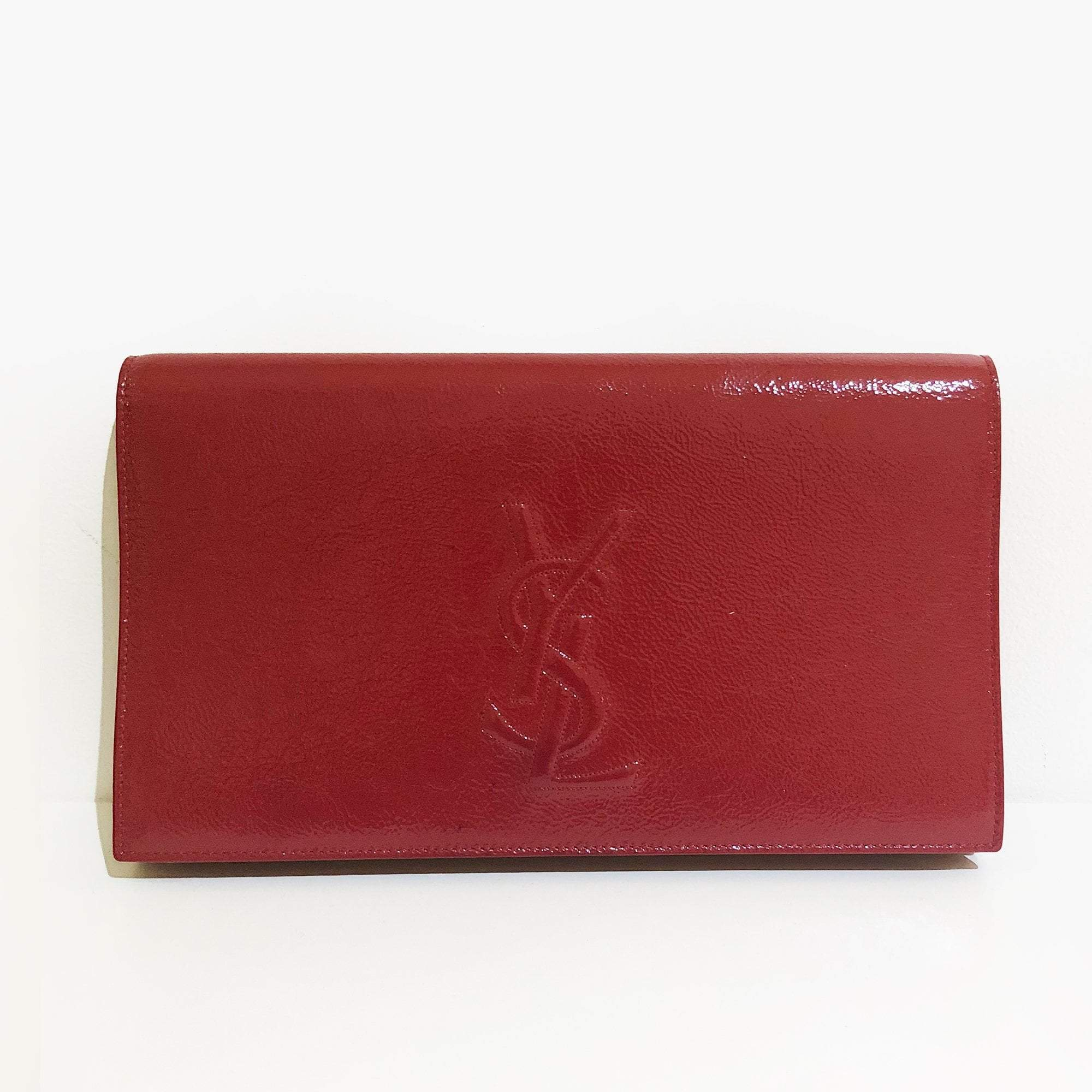 Saint Laurent Sac De Jour Red Clutch