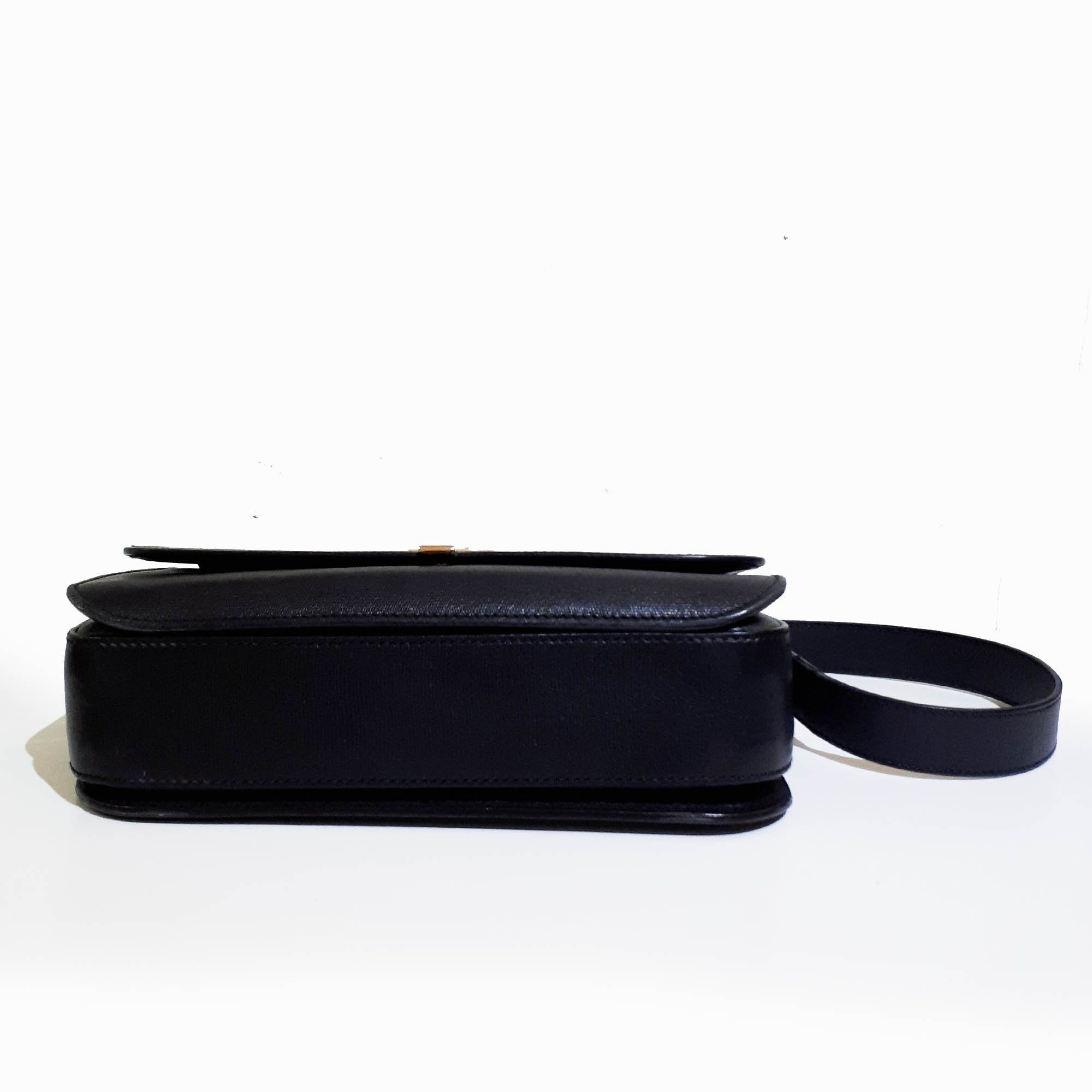 Saint Laurent Chyc Black Leather Bag