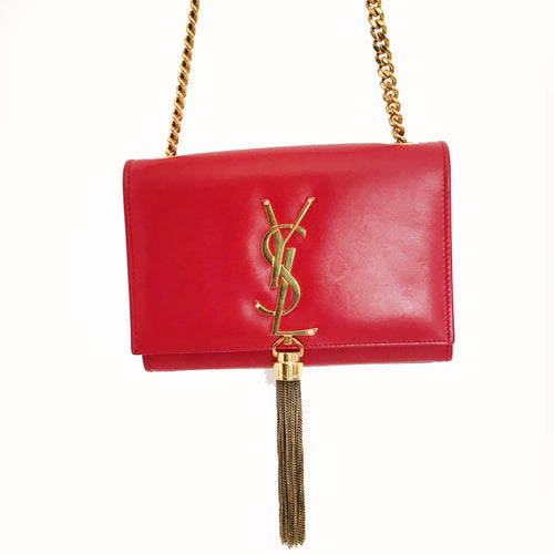 Saint Laurent CrossBody Red Tassel Bag