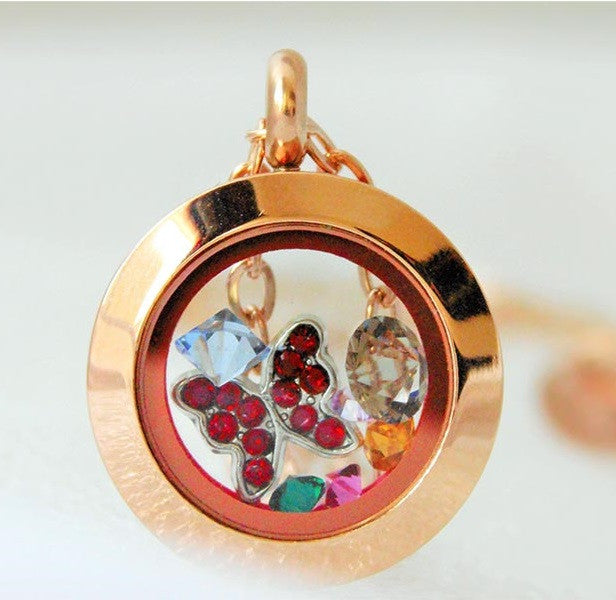 Floating locket designs