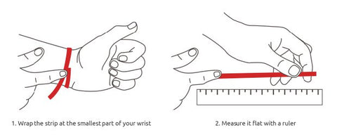 Measuring your wrist to fit a bracelet