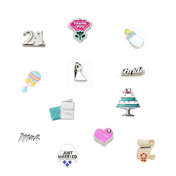 Celebrations and Occasions Themed Floating Charms