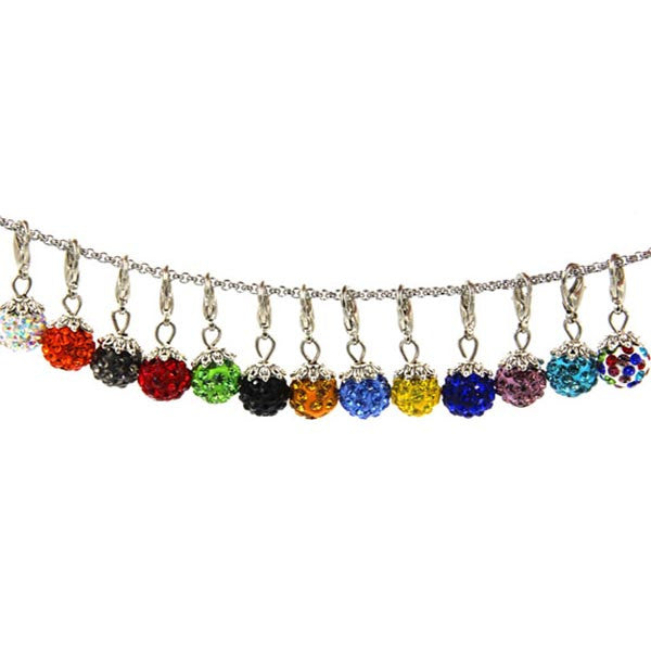 Crystal shamballa Disco Ball clip charms