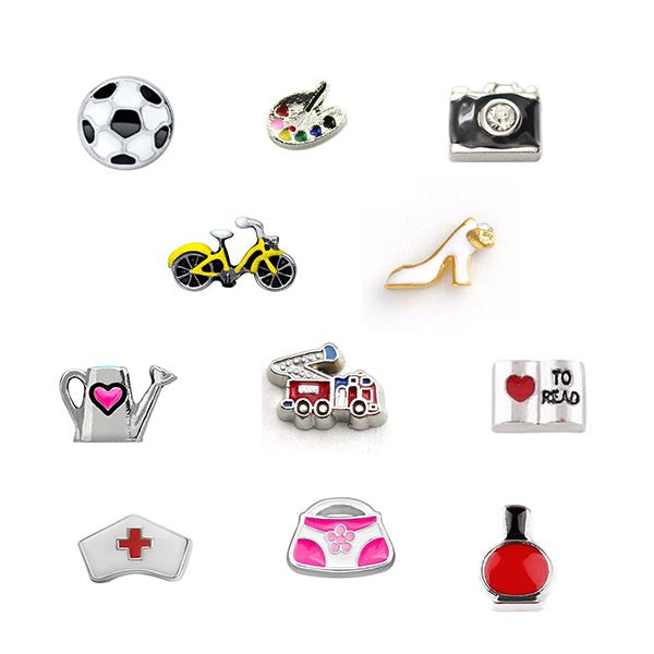 Fashion, Hobbies and Occupation Floating Charms