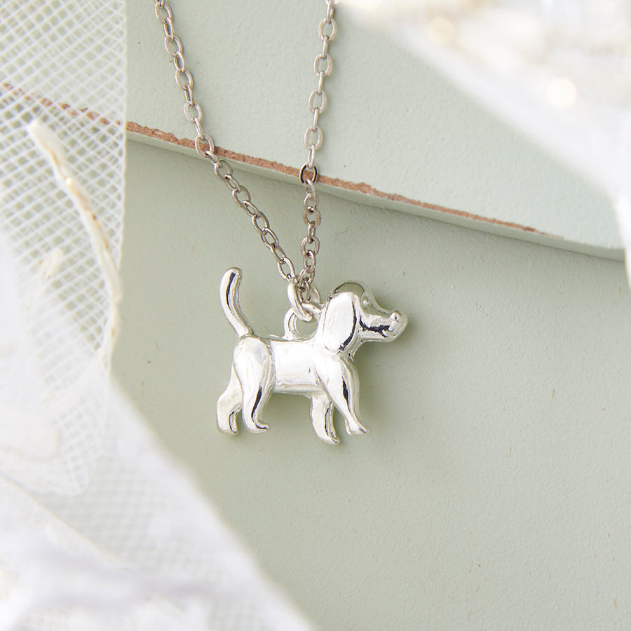 Silver Dog Necklace