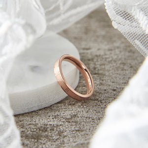Rose Gold Stainless Steel Roman Numeral Ring