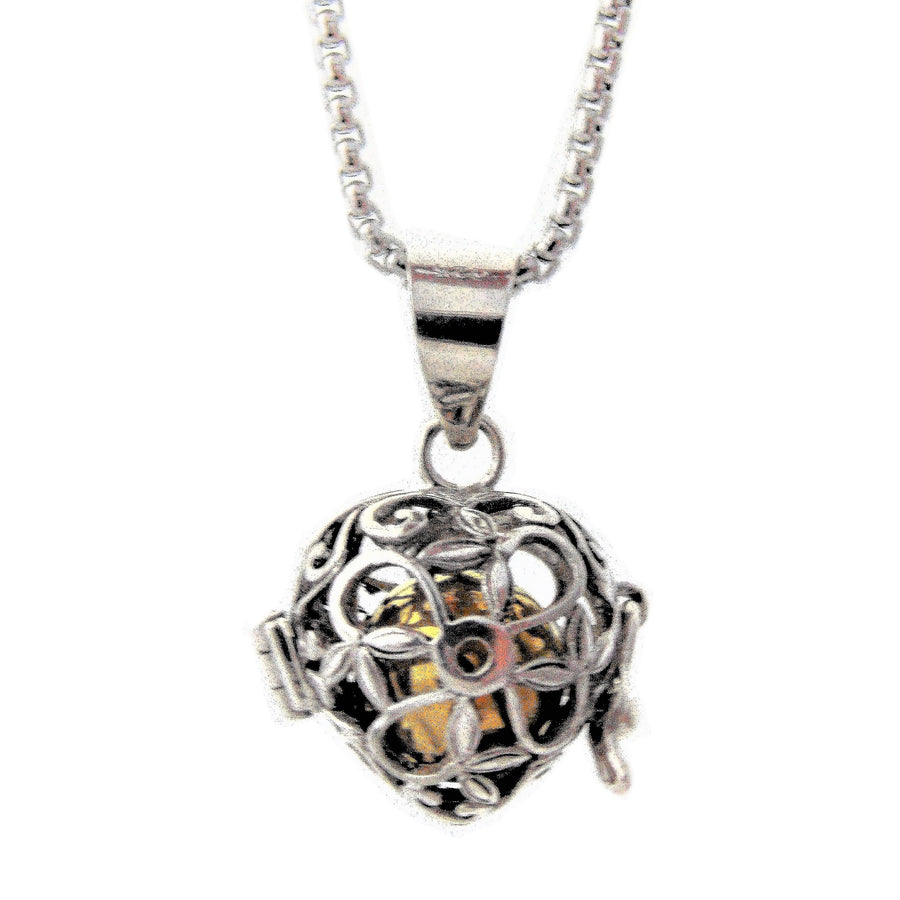 925 Silver Heart Harmony Ball, Bola, Chime, Angel Caller