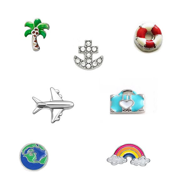Holiday and Travel Floating Charms