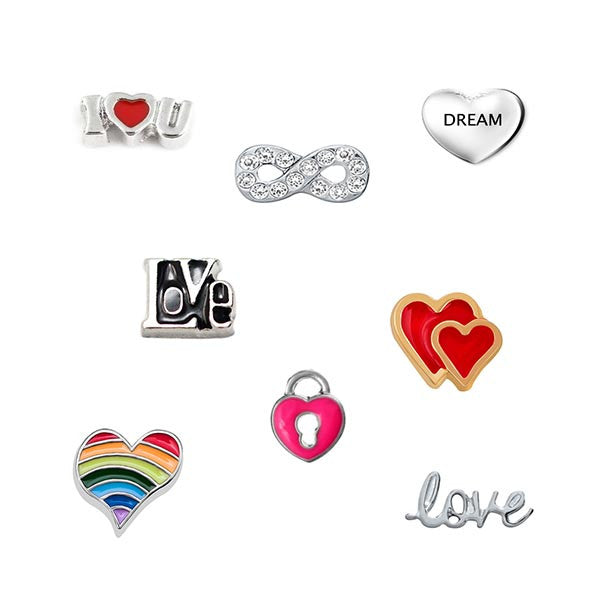 Love and Romance Floating Charm