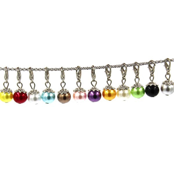 Pearl dangle clip charms