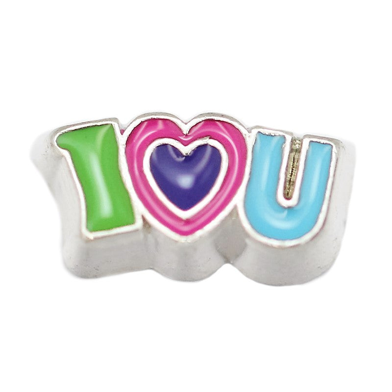 Colourful I Love U Floating Charm