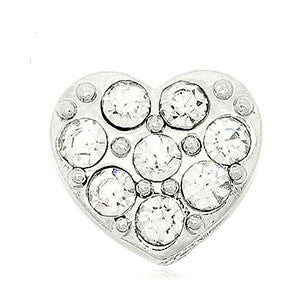 Crystal Heart Floating Charm