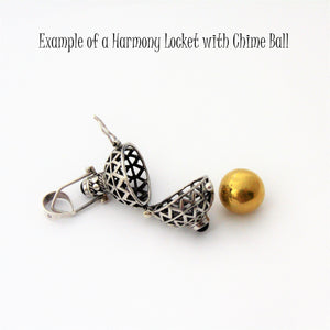 Harmony Locket open with Brass Chime Ball