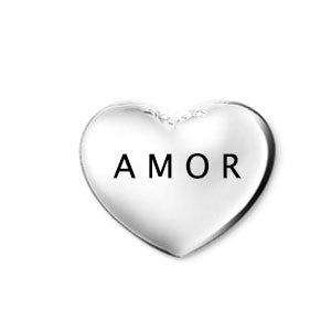 Silver Amor Heart Floating Charm